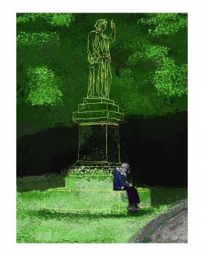 donna e statua