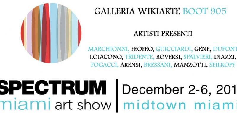 Wikiarte Gallery Fair Spectrum Miami (USA)  Boot 905 from 2 to 6 December 2015