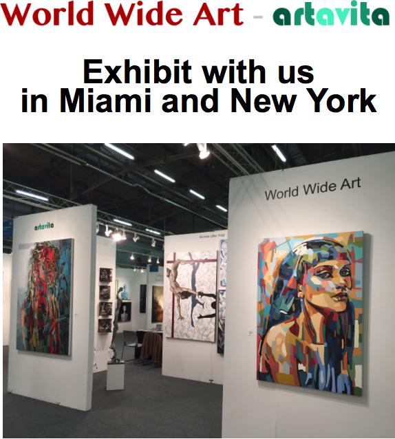 Exhibit with us in Miami and New York