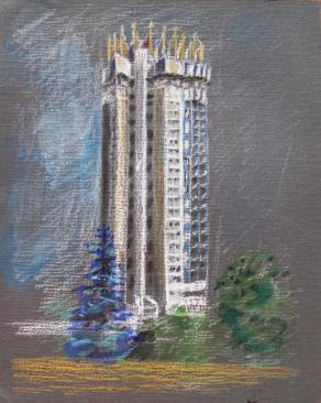 "vews Of Almaty ""Hotel Kazakhstan"""