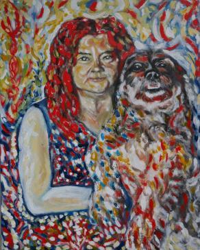 Signora con cane