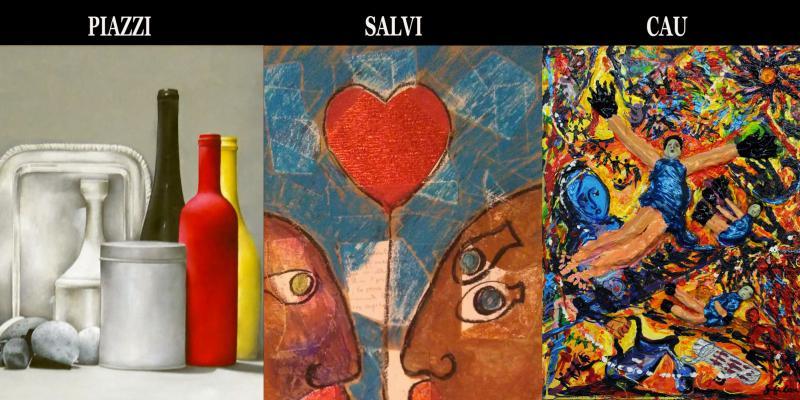 Inauguration of personal exhibition by Maurizia Piazzi, Tiziana Salvi, Luigi Cau, presents Denitza Nedkova