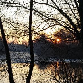 tramonto sul fiume Oglio