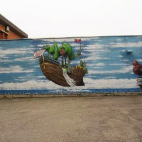 CORTILE INTERNO DEL CARCERE DI MASSIMA SICUREZZA DI ASCOLI PICENO- street art 0