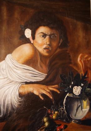 """Copia da Caravaggio  """"Ragazzo morso da un ramarro"""""""