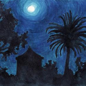 Full moon night at the Farm cottage Posta Santa Croce