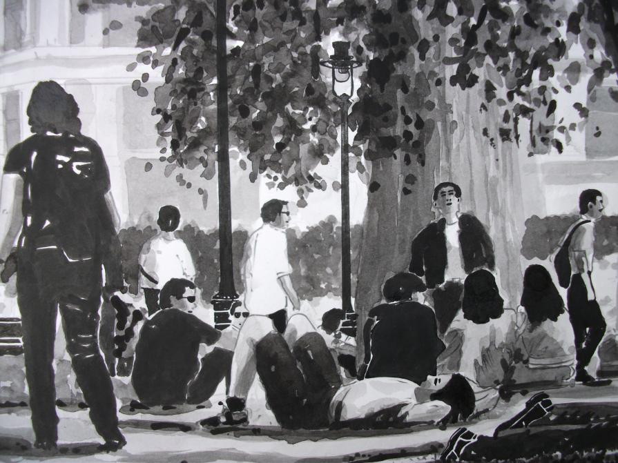 Lunchtime, Leicester Square (detail)