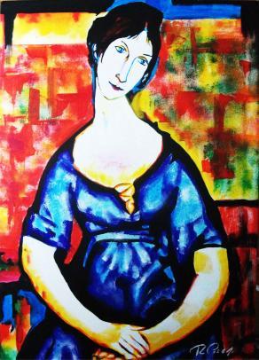 ELSA ZYLBERSTEIN - BLUE DRESS