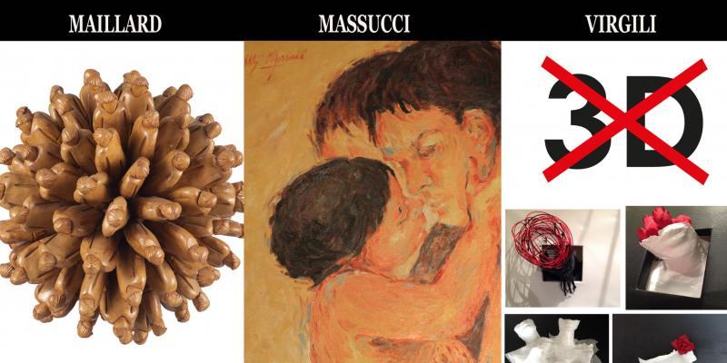 Solo exhibition of Vincent Maillard, Roberta Massucci and Maurizio Virgili presentation by Giorgio Grasso