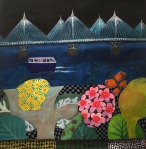 Jubilee Bridge with wildflowers