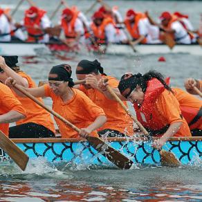 Boat racing in Golden Horn
