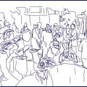 Il buffet di chiusura della Mostra 2013 (Della serie liberi appunti in libera mostra)