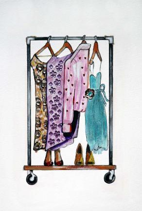 Hanging Clothes Illustration