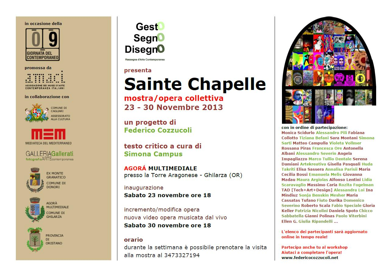 Sainte Chapelle group exhibition/work