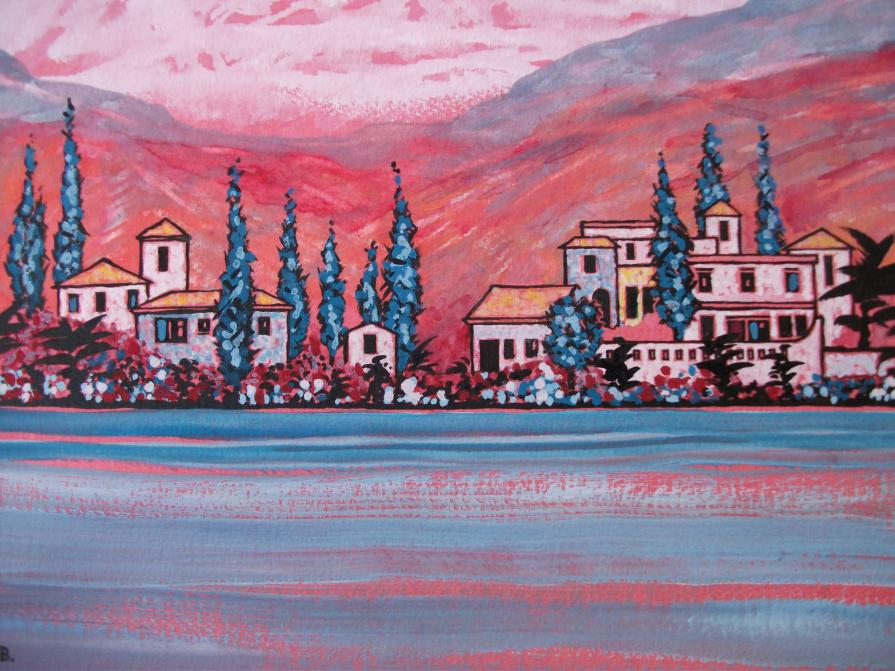 Pink hills Greece 2 (detail)