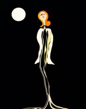 La modella e la luna