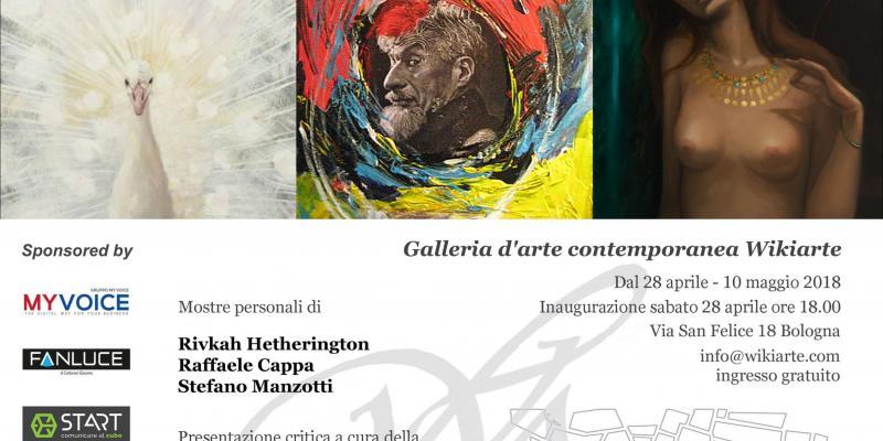 Personal exhibition of Rivkah Hetherington, Raffaele Cappa e Stefano Manzotti, presents Denitza Nedkova.