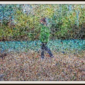 """Walking by the river (n.521) - """"@ the River"""" series"""