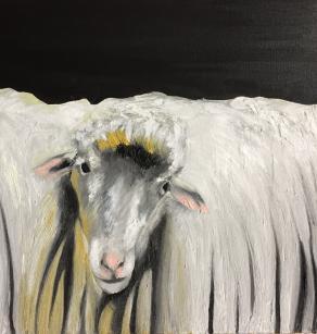 Natura viva con pecora