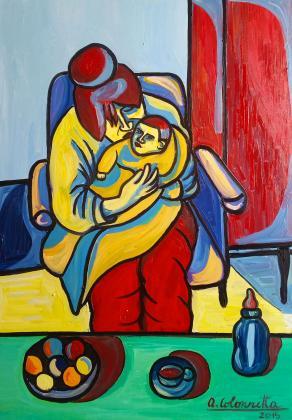 Nonna con bambino (ciclo dei Nonni, opera 1) - Grandma with child (Grandparents' cycle, work 1)