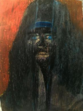 serie: facce private con fantasma 4 / private faces with ghost 4