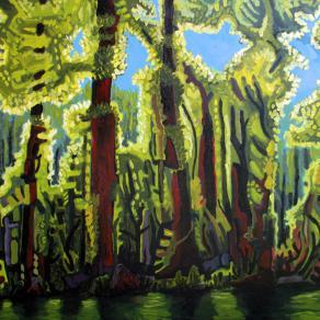 left hand zen landscape 1 trees by the river