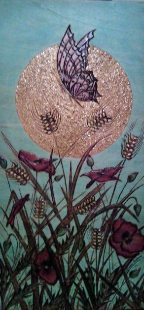 FARFALLA E PAPAVERI...in un campo di grano