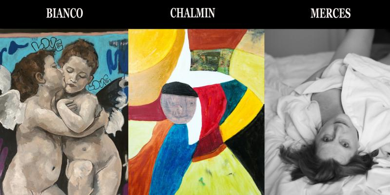 Personal exhibitions of Bianco, Charmin and Merces