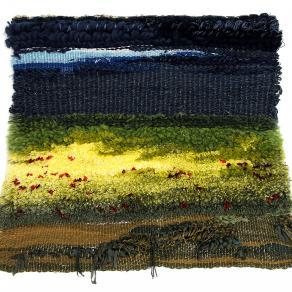campo d'orzo e papaveri