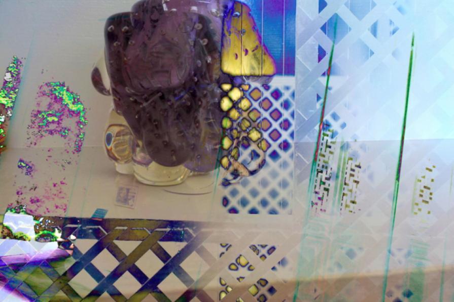 Murano lattice purple