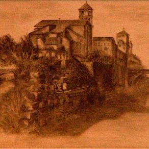 Isola Tiberina ed Esculapio