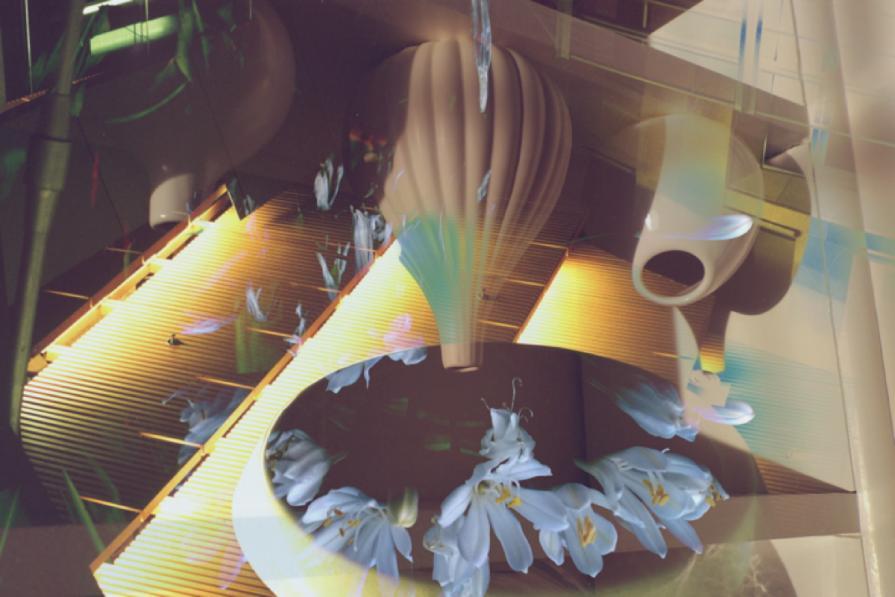 Upside down agapanthus bowl